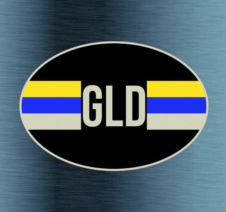 TenStickers. Auto stickers Vlag Gelderland. Provincie vlag Autostickers en vlag autostickers voor auto's bumpers en ruiten. Bijvoorbeeld: Gelderland vlag sticker en Gelderland autostickers!