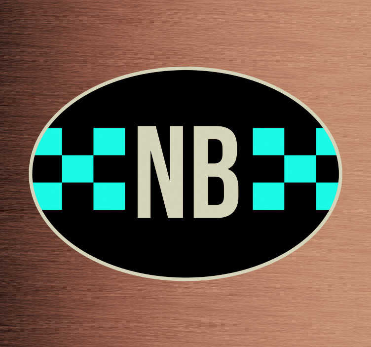 TenStickers. Autostickers vlag Noord Brabant. Provinciale vlag Autostickers voor autobumpers/autoruiten. Autostickers vlaggen: Noord Brabant sticker en Noord Brabant autostickers!