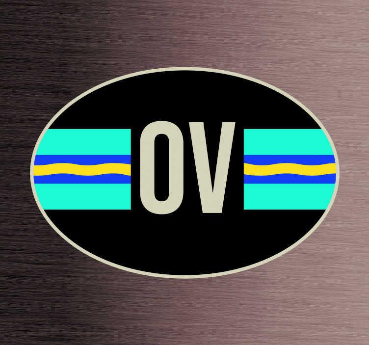 TenStickers. Auto stickers vlag Overrijsel. Provincie vlaggen Autostickers en autostickers vlaggen voor autobumpers/autoruiten: Overijssel vlag sticker en Overijssel autostickers!
