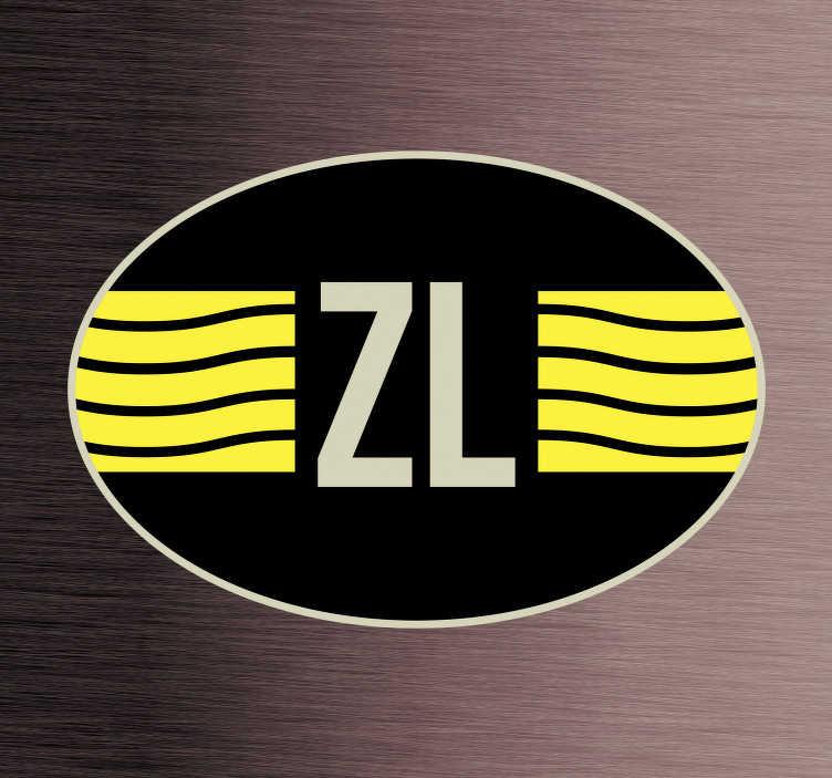 TenStickers. Auto stickers Vlag Zeeland. Provincie vlag Autostickers en vlaggen autostickers  voor autobumper en autoruit. Bijvoorbeeld: Zeeland vlag sticker en Zeeland vlag autostickers!