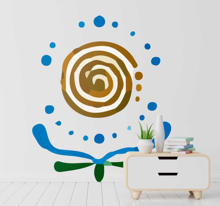 TenVinilo. Vinilo original Árbol de la vida maya. Original pegatina adhesiva formada por el diseño de un árbol de la vida, creado a partir de un símbolo maya. Descuentos para nuevos usuarios.