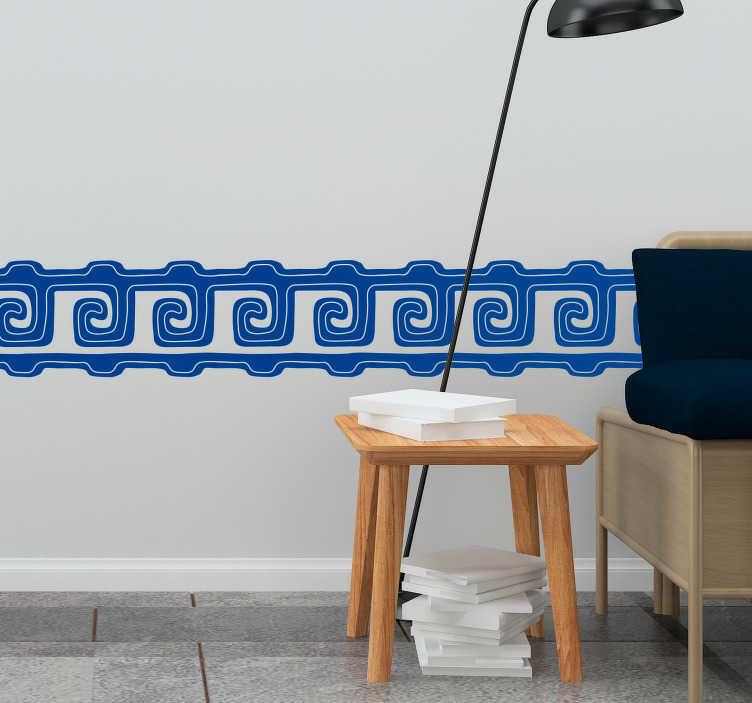 TenVinilo. Vinilo original Patrones zapotecas. Cenefa adhesiva para decorar cualquier estancia de tu hogar formada por un patrón típico de la cultura zapoteca. Atención al Cliente Personalizada.