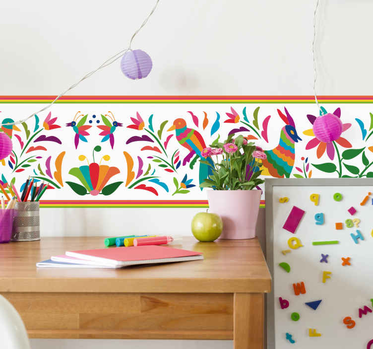 TenStickers. Patterned Animals Wall Sticker. Add some colourful animals to your wall with this absolutely superb decorative and colourful animal sticker! Easy to apply.