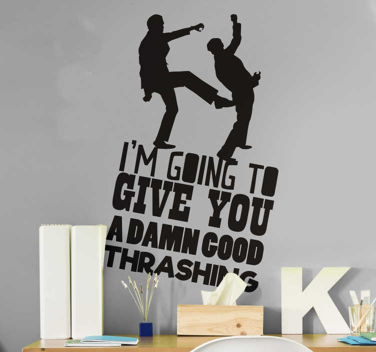TenStickers. Fawlty Towers Start TV Wall Sticker. Pay tribute to the magic of Fawlty Towers with this superb TV wall sticker, depicting one of its most iconic quotes! Anti-bubble vinyl.
