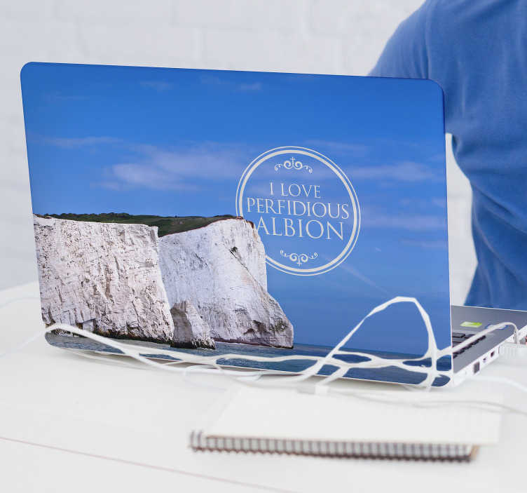 TenStickers. White Cliffs of Dover Laptop Sticker. Show your love for the glorious White Cliffs of Dover with this fantastic laptop sticker depicting the scene! Personalised stickers.