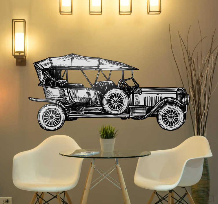 TenStickers. Ford 1908 Vehicle Sticker. Pay tribute to the first car in history with this fantastic vehicle sticker depicting the Ford 1908 itself! Extremely long-lasting material.