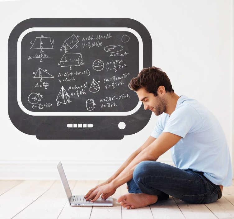 TenStickers. Muursticker krijtbord televisie. Deze muursticker van een krijtbord is in de vorm van een televisie. Een grappig en origineel ontwerp voor de kinderkamer.