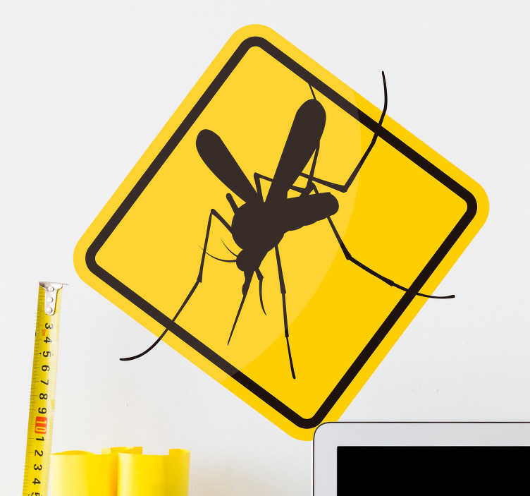 TenStickers. Mosquito danger animal wall sticker. Spook your guests with this awesome mosquito danger wall sticker. choose from a wide variety of shapes and sizes! Free delivery available!