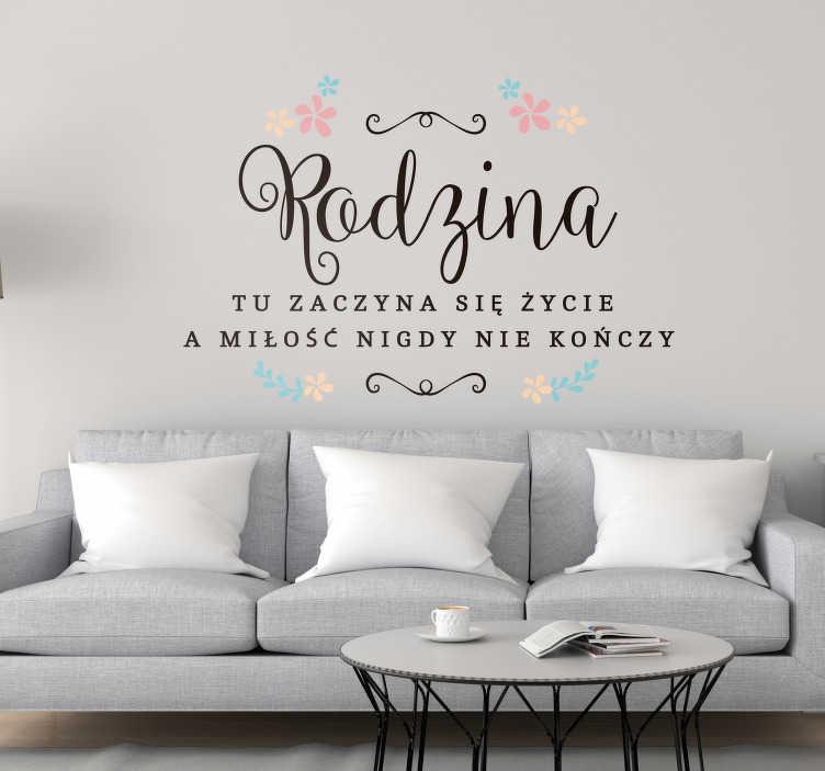 TenStickers. Naklejka na ścianę napisy Cytat o rodzinie. Naklejki na ścianę napisy do salonu to świetny pomysł na intrygujące dekoracje Twojego domu. Sprawdź naklejkę z napisem o rodzinie do salonu.