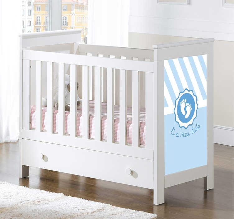 TenStickers. Autocolantes para casa É o meu bebe. Adesivo bebé perfeito para decorar a parede ou o quarto infantil de sua casa. É um vinil autocolante com ilustração e texto.