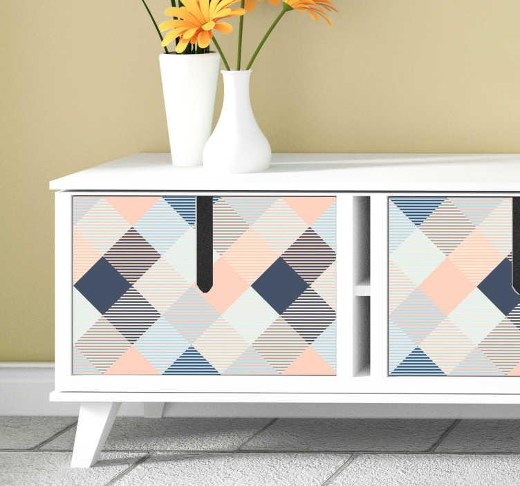 TenStickers. Sticker Meuble Carrés Pastels. Les carrés aux couleurs pastels de ce sticker pour meuble iront à merveille dans votre salon tout comme dans votre chambre.
