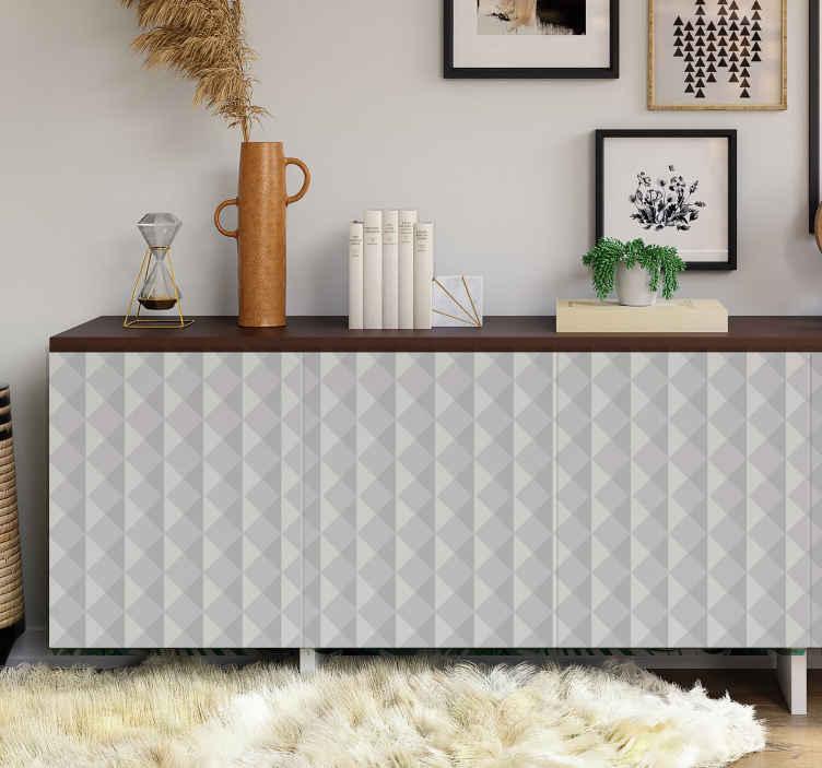 TenStickers. Meubelstickers met 3D-effect. Met deze sticker van geometrische vormen zal je verschillende plekken van jouw huis een originele look geven van een 3d-effect.