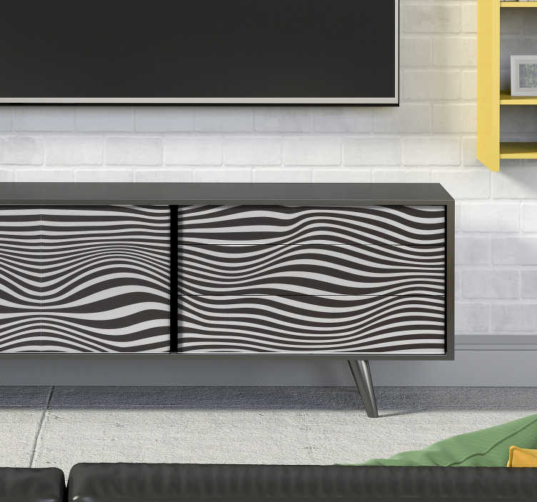 TenStickers. Meubelstickers Reliëf effect. Deze sticker met visuele effecten is ideaal voor jouw meubels als je originaliteit belangrijk vindt en van de retro look houdt.