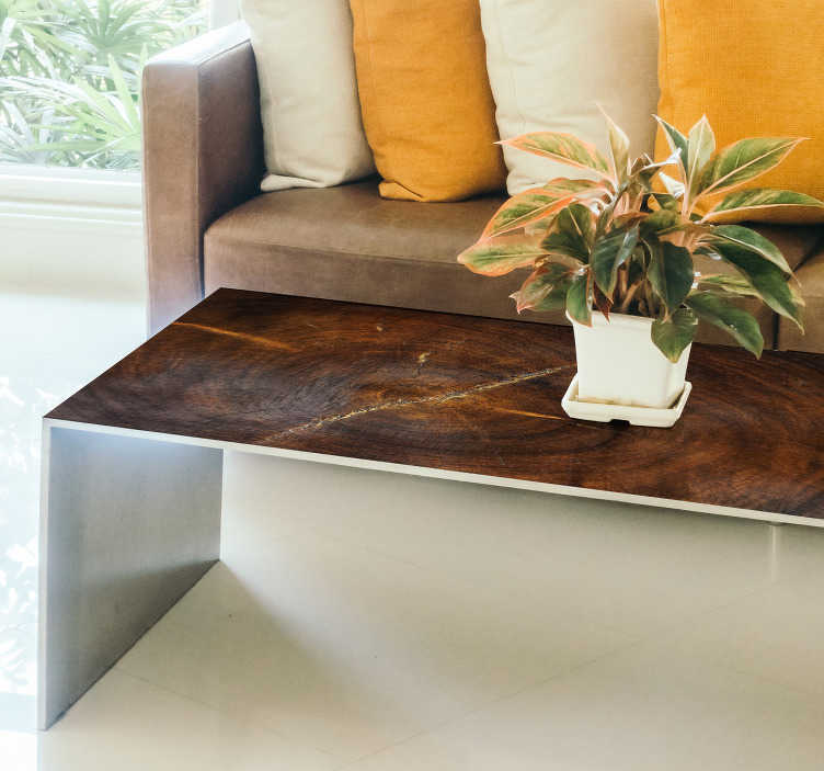 TenStickers. 木效果客厅墙壁装饰. 这款纹理贴纸将为您的室内装饰带来令人印象深刻的木质效果,甚至无需完全安排!