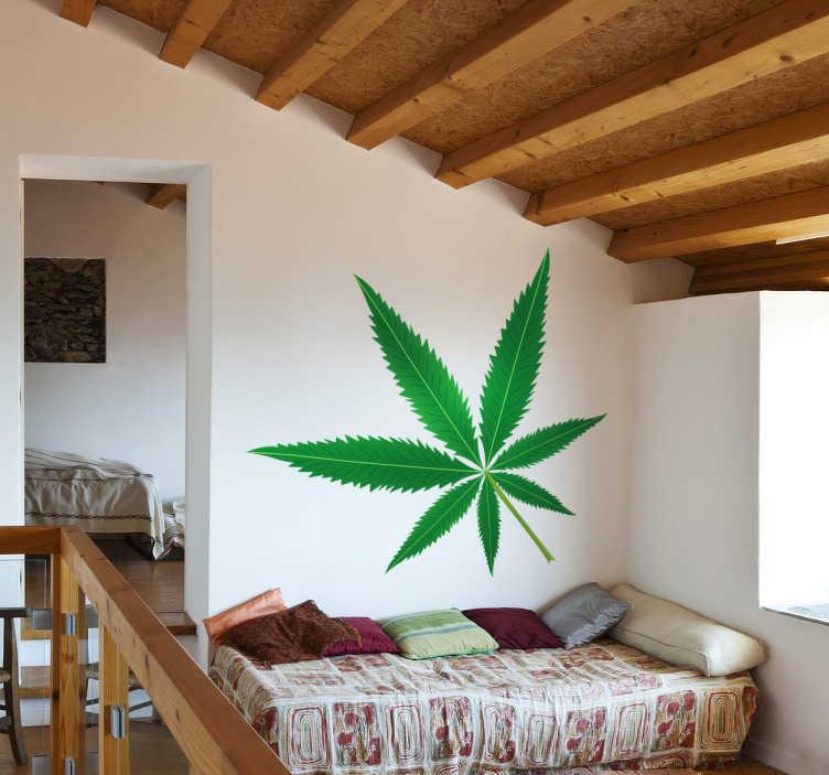 Vinilo decorativo marihuana