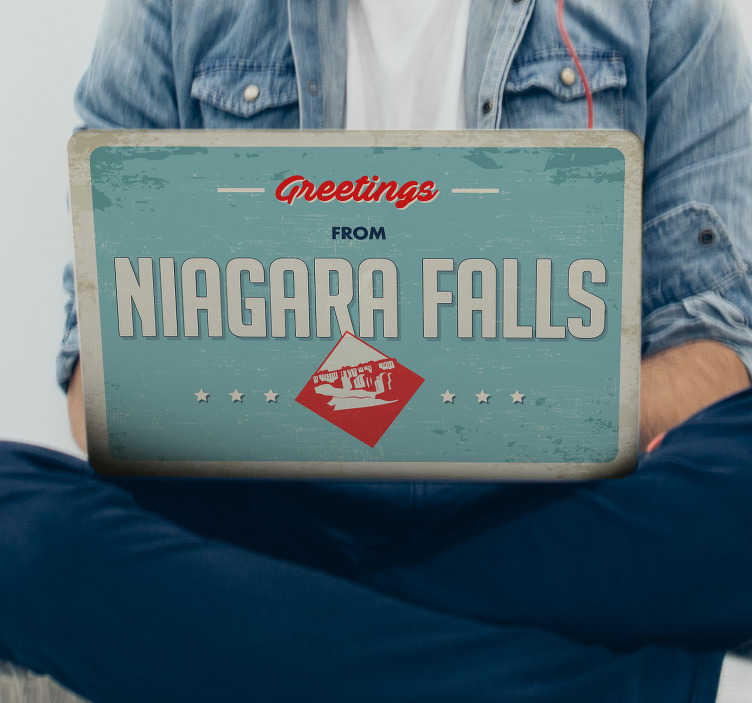 TenStickers. Niagra Falls Laptop Decor. If you love Niagra Falls then you are sure to be greatly interested in this fantastic laptop sticker, inspired by it! +10,000 satisfied customers.