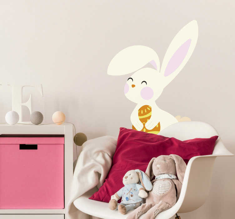 TenStickers. Eastern Rabbit Home Wall Sticker. If you want some joy and colours of Spring in your kids bedroom, the cute rabbit of this Eastern wall sticker will convince you !