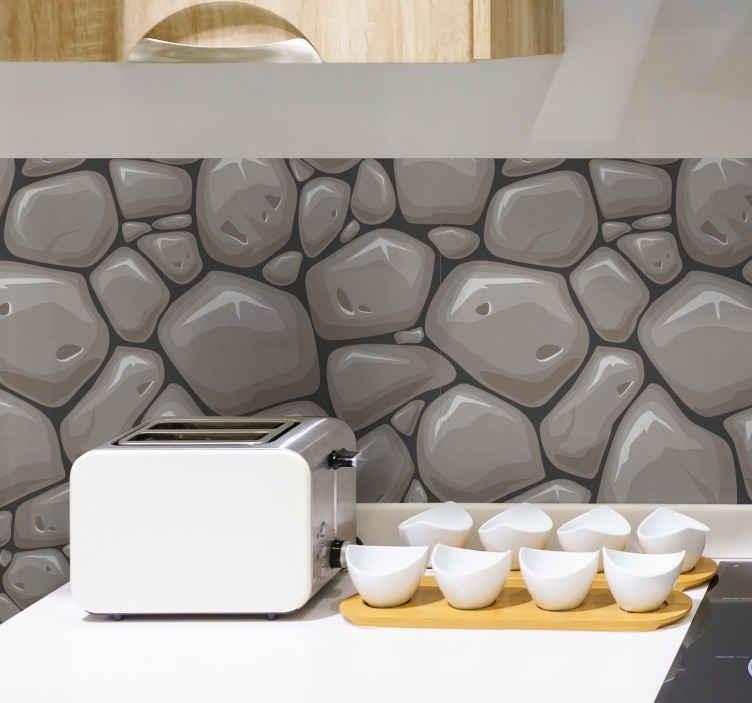 TenVinilo. Vinilo con textura piedras naturales. Original lámina de vinilo adhesiva ideal para renovar toda una pared, formada por un estampado que simula una piedras naturales. Precios imbatibles.