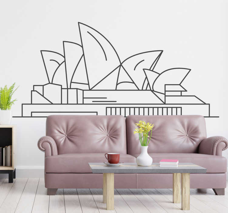 TenStickers. Sydney Opera House Silhouette Sticker. Pay tribute to the magnificence of the Sydney Opera house with this superb silhouette wall sticker! Available in 50 colours.