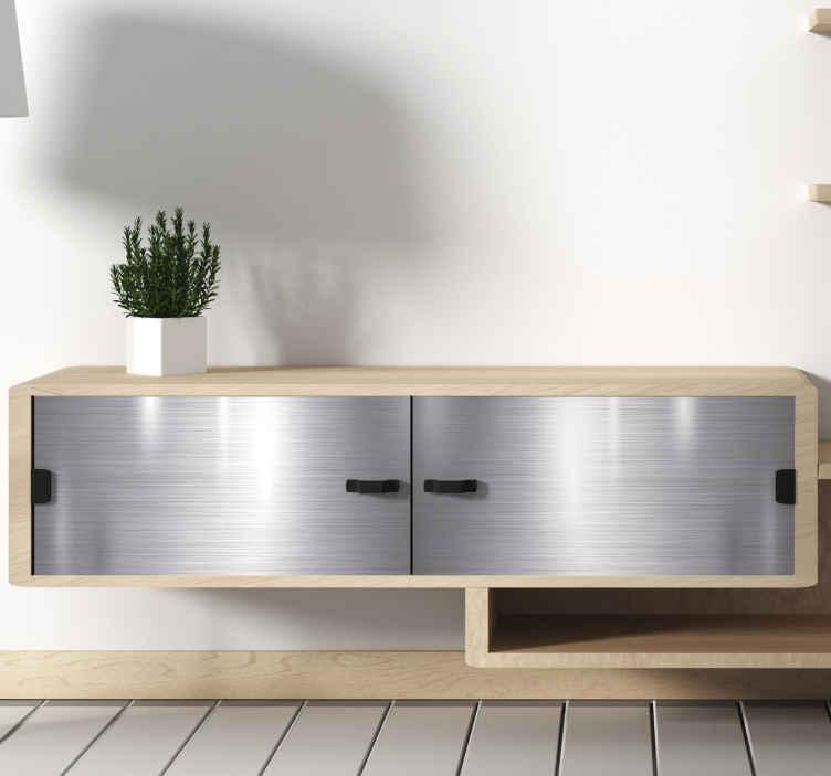 TenStickers. Sticker Texture Effet simili métallique. Pour embellir les meubles de votre salon ou votre chambre avec originalité et un effet illusion métallique, ce sticker pour meuble ira parfaitement.
