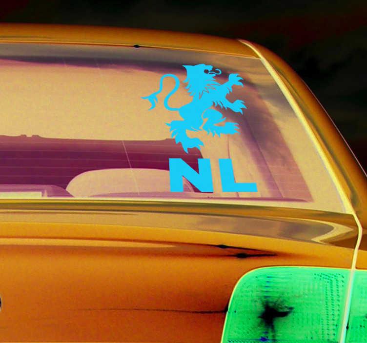 TenStickers. Landen stickers Nederlandse leeuw. Leuke auto stickers Nederlandse leeuw, een leuk idee voor op auto ramen of auto bumpers. Nederlandse leeuw auto sticker en NL auto sticker.