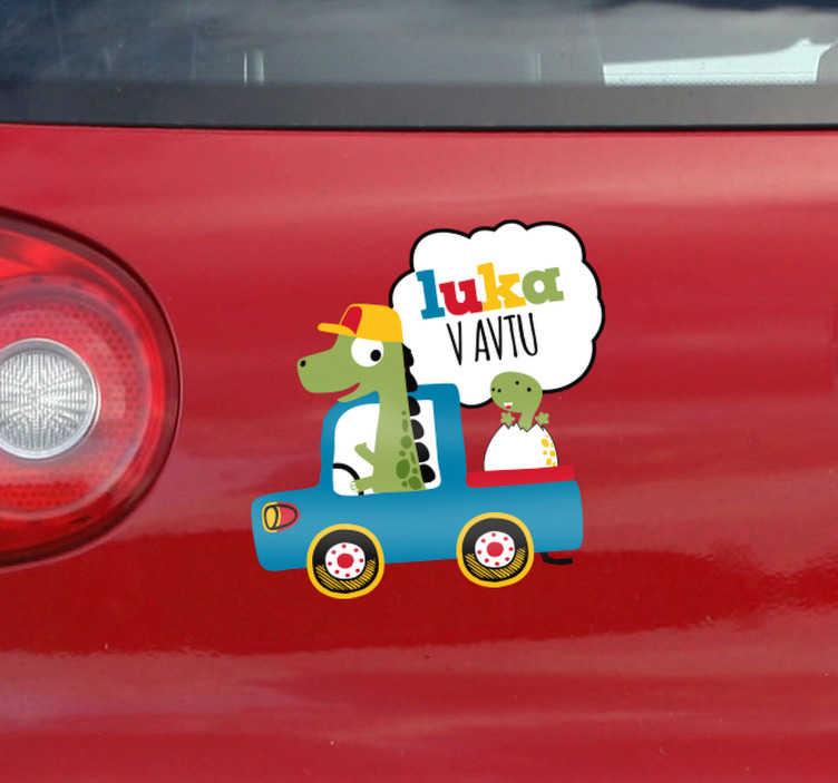 TenStickers. Otroka na krovu ime nalepka avto nalepke. Baby na krovu carstickers vaš avto odbijač otroka na krovu nalepke. Promet se bo zavedal, da je treba z nalepkami na vozilu skrbno voziti.