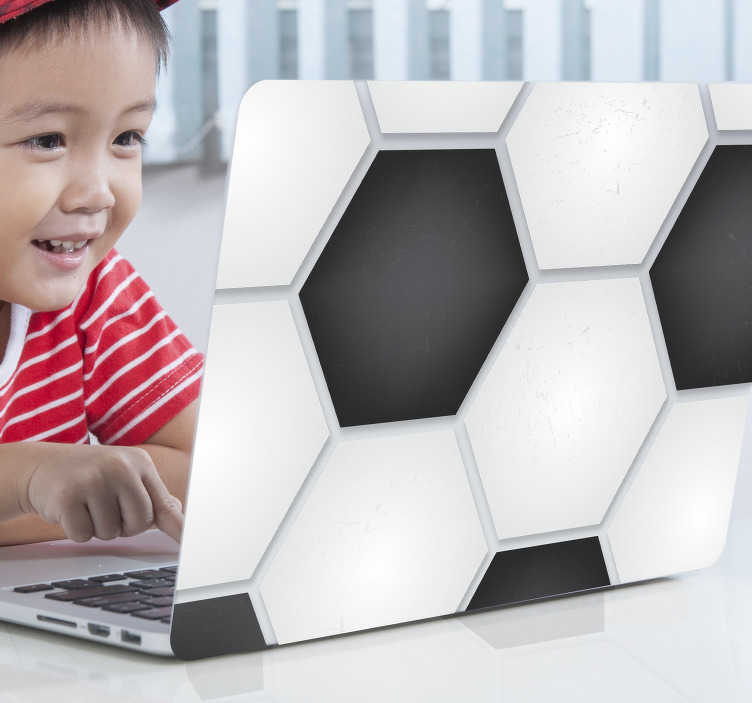 TenStickers. ball pattern laptop skin. Decorative football pattern laptop sticker to decorate a laptop surface in full form. Easy to apply and available in any required size.