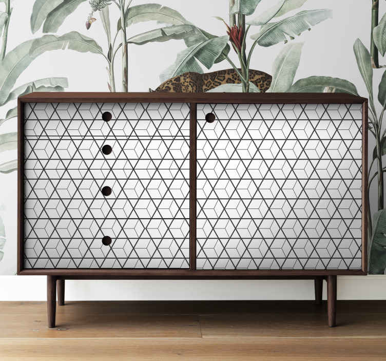 TenStickers. Scandinavian motifs furniture decal. Decorate the furniture in the home in our original vinyl furniture decal made of Scandinavian motif  design. Easy to apply.