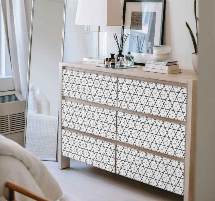 TenStickers. Sticker Maison Motifs Scandinaves. Parce que les motifs à inspiration scandinave sont à la mode, adoptez vous aussi ce style unique grâce à ce sticker pour meuble !