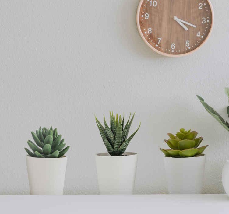 TenStickers. Muurstickers bloemen 3d planten. Leuke stickers van 3D planten, leuk voor de woonkamer! Geniet met het hele huis van deze 3d planten muursticker of 3d planten stickers!