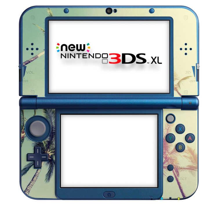 TenStickers. Stickers Arbre Palmiers Console Nintendo. Pour un peu d'exotisme à votre console Nintendo 3DS XL, nous avons le sticker photo qu'il vous faut : agrémenté de palmiers pour une touche de soleil.