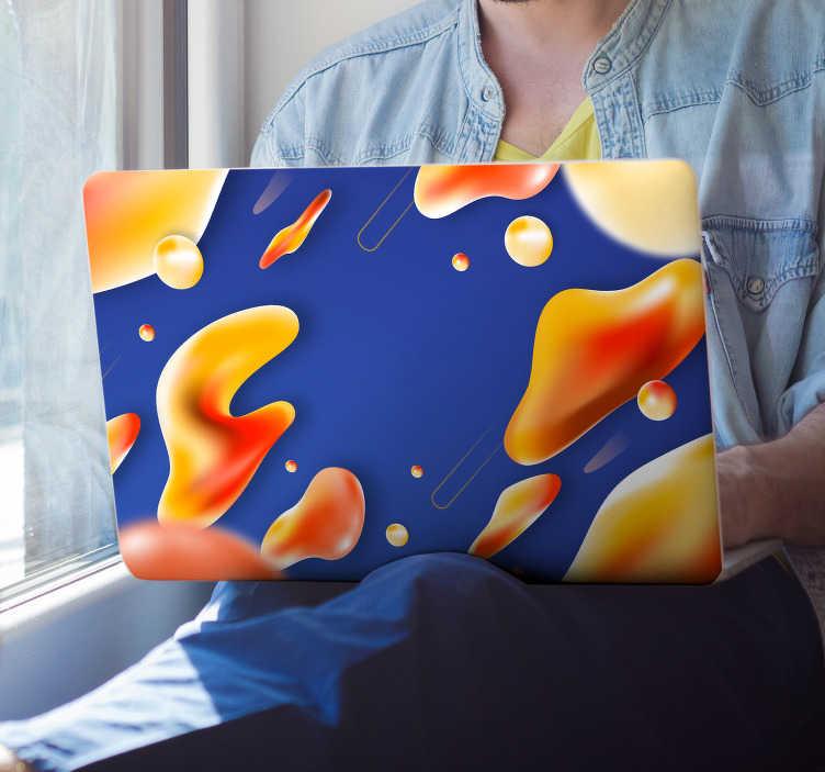 TenStickers. Laptop sticker abstracte vloeistof. Moderne laptop sticker, ideaal als laptop sticker voor kinderen en tablet stickers voor kinderen van alle leeftijden. Abstracte kunst laptop sticker.