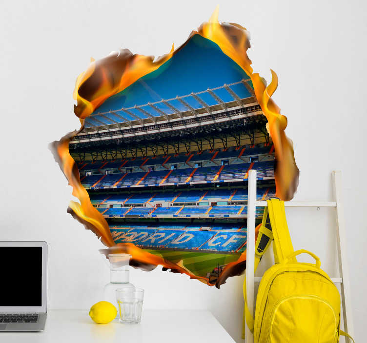TenStickers. Bernabeu Visual Effects Wall Sticker. Make yourself feel as though you are truly in the Bernabeu with this fantastic visual effects inspired sports sticker! Sign up for 10% off.