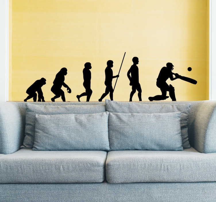 TenStickers. Cricket Evolution Home Wall Sticker. Pay tribute to the amazing sport of cricket with this superb sports sticker, depicting the evolution of a batsman! Sign up for 10% off.