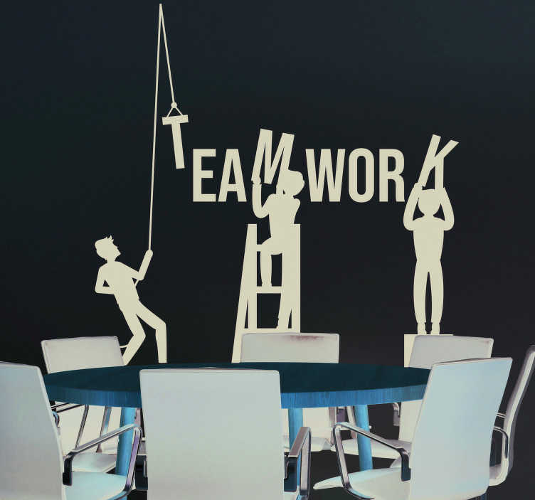 TenStickers. Teamwork Wall Art Sticker. Pay tribute to the magic - and importance - of teamwork with this superbly useful and motivational business sticker! Easy to apply.