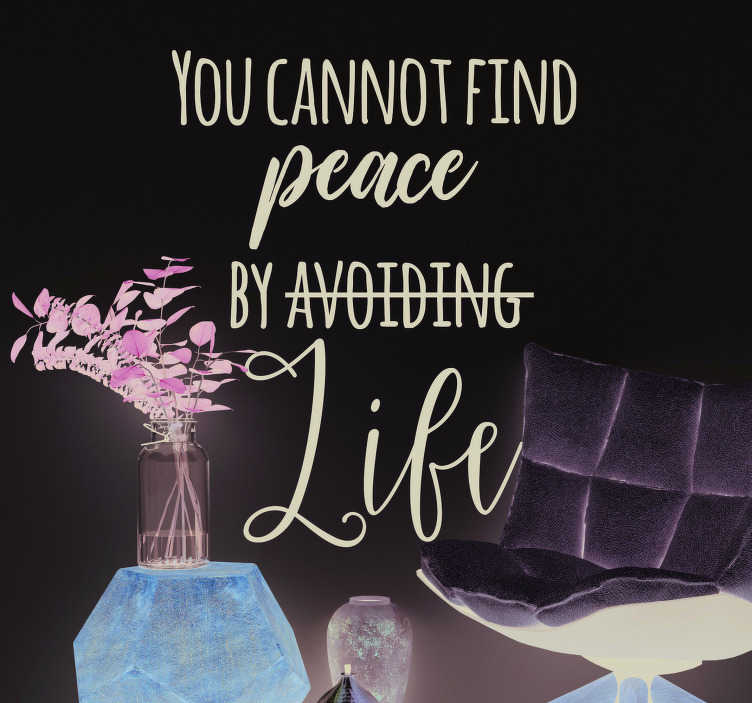 TenStickers. Virginia Woolf Peace Living Room Wall Decor. Remind yourself of what it takes to find peace in this life with this superb quote sticker, courtesy of Virginia Woolf! Choose your size.