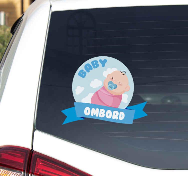 Tenstickers. Lille baby ombord kjøretøy klistremerke. Høne kjører med en baby, sikkerhet er helt avgjørende. La alle vite at babyen din er om bord. Ekstremt langvarig materiale.