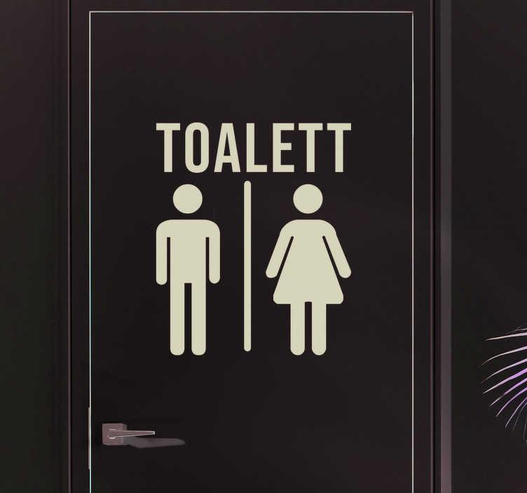 Tenstickers. Wc menn og kvinner business sticker. Bad klistremerker - wc toalett tegn å plassere på døren på toalettet som representerer begge kjønn. Anti-boble vinyl. Rabatter tilgjengelig.