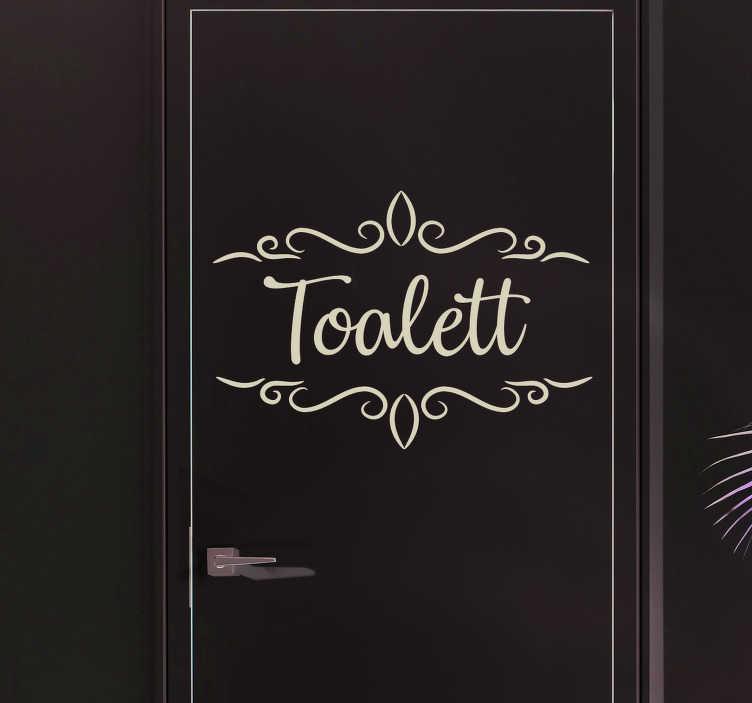 Tenstickers. Toalett tekst på dør dør klistremerke. Wc klistremerker - informer folk om hvor ditt bad er med dette originale toalett dørdekal klistremerke. Rabatter tilgjengelig.