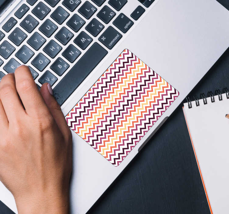 TenStickers. Zigzag Trackpad Laptop Sticker. Turn your boring and lifeless laptop into a serious work of art with this amazing zigzag laptop sticker. Free worldwide delivery available!