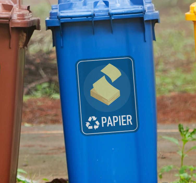 TenStickers. Naklejka na ścianę różne oznaczenia Segregacja papieru. Użyteczne naklejki na kosze do segregacji papieru z pewnością pomogą Ci i innym odpowiednio segregować odpady zarówno w domu jak i w firmie.