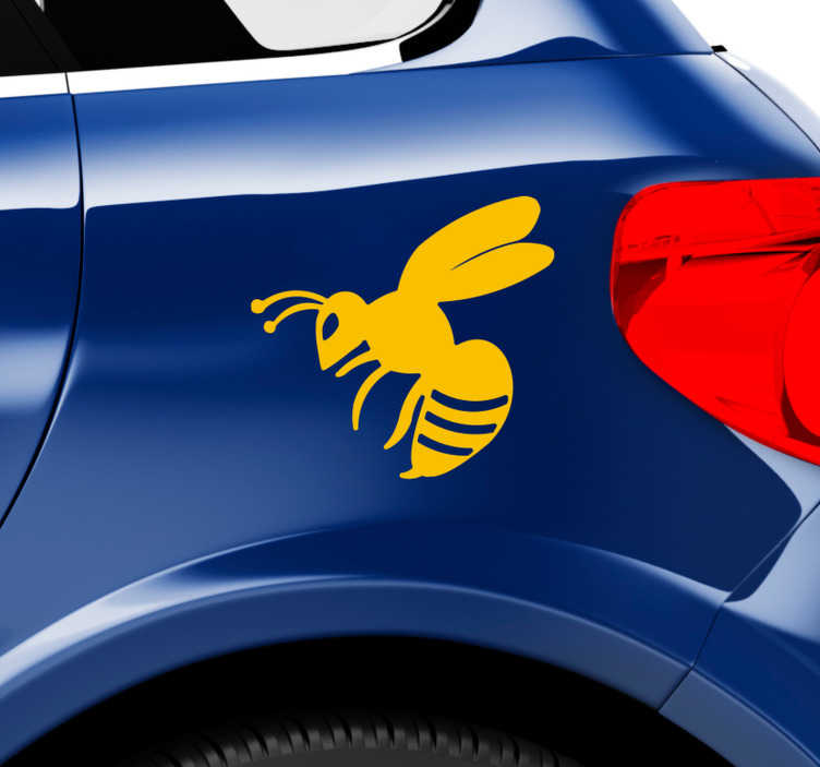 TenStickers. Wasp Car Decal. Wasp insect sticker to decorate the surface of  vehicle and on personal accessories. Available in different colours and size. Easy to apply.