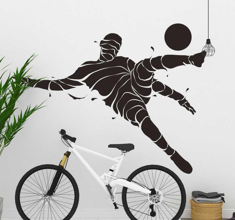 TenVinilo. Vinilo deporte jugador de fútbol abstracto. Pegatina para habitación juvenil formada por el diseño de la silueta abstracta de un futbolista. Atención al Cliente Personalizada.