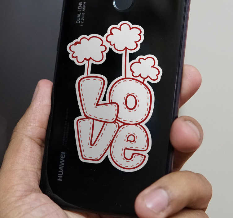 TenStickers. Love Phone Decorative Sticker. Pay tribute to the magic of love with this superb phone sticker, ideal for absolutely every single mobile! Anti-bubble vinyl.