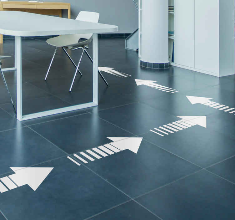 TenStickers. Pointing Arrows floor stickers. Start pointing your customers, friends and family in the right direction with these brilliant arrow floor decals. Choose from over 50 colours!