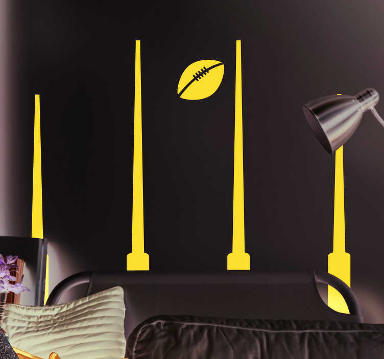 TenStickers. Aussie Rules Posts Home Wall Sticker. Decorate your home with this fantastic sports sticker, depicting the posts from Aussie Rules looking resplendent! Free delivery over A$100.