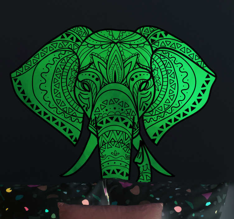 TenStickers. Indian Elephant Animal Wall Sticker. Showcase your love for the culture of India with this superb location and country themed wall sticker! Choose your size.