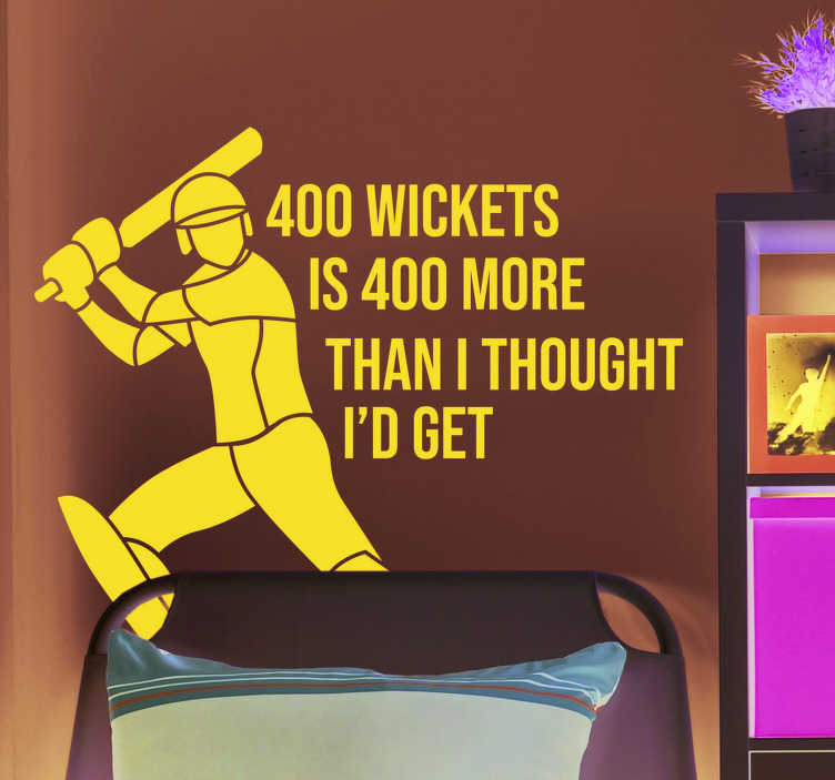 TenStickers. Shane Warne Wickets Quote Sticker. Pay tribute to the wicket taking magic of Shane Warne with this superb cricket quote sticker about his wickets! Easy to apply.