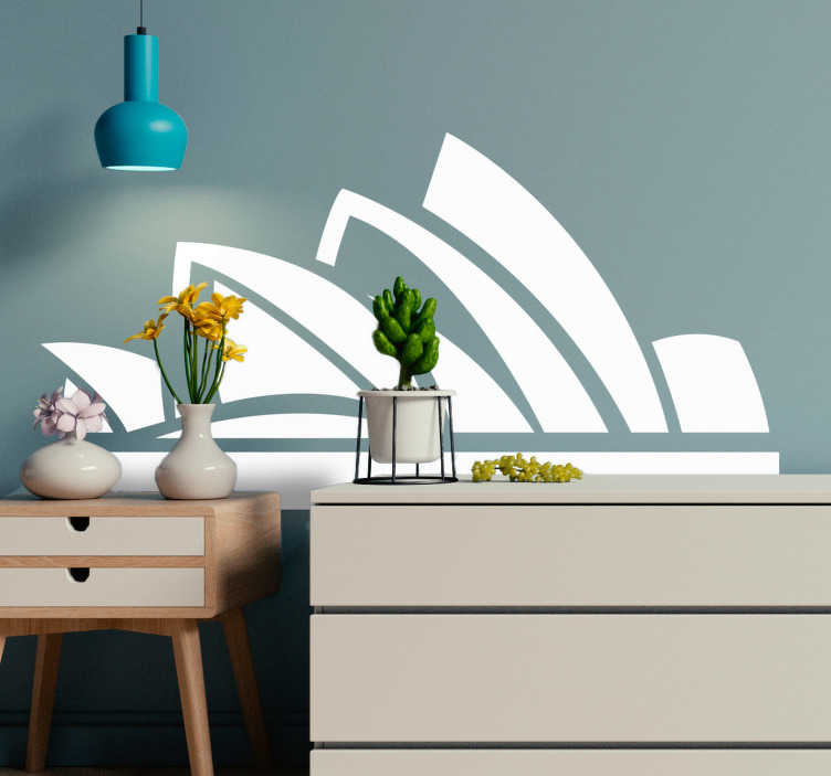 TenStickers. Opera House Silhouette Sticker. Pay homage to the Sydney Opera House with this superb city skyline sticker, showing the Opera house in all its glory! Free delivery over A$100.