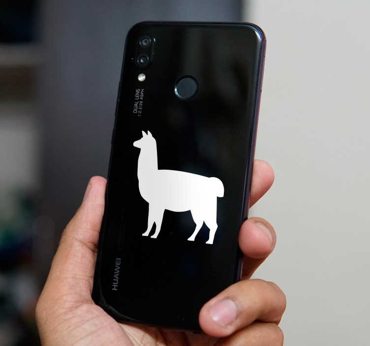 TenStickers. Llama Huawei Phone Sticker. Do you love llamas? If you answer that question affirmatively, then you will surely love this Huawei sticker! Personalised stickers.